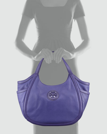 Hannah Pocket Hobo Bag, Iris
