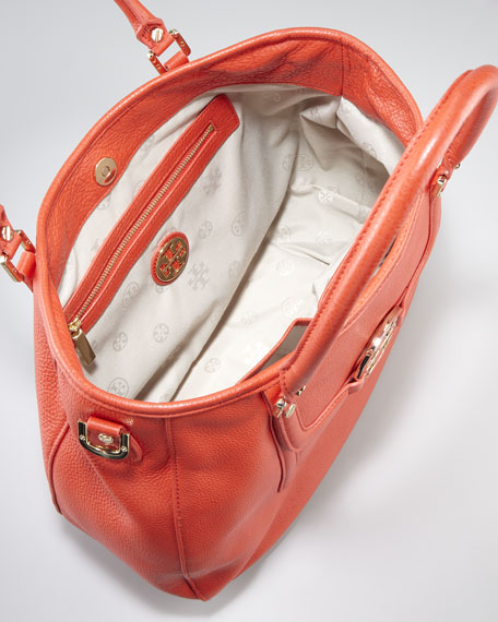 Amanda Classic Hobo Bag, Flame Red