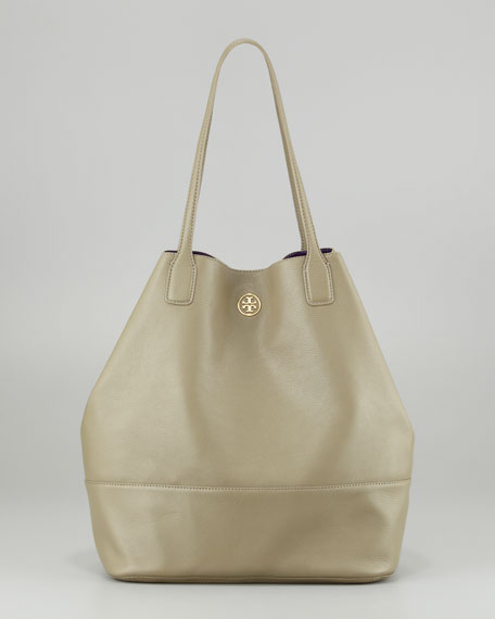 Michelle Leather Tote Bag, Thunderstorm