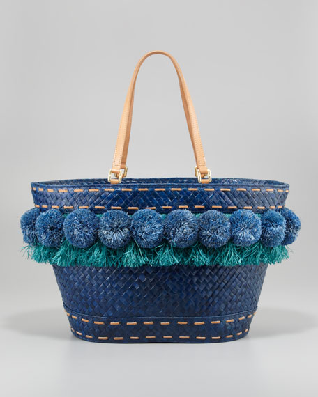 Beachy Norah Bucket Tote Bag, Frost Blue