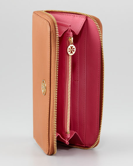 Robinson Continental Zip Wallet, Luggage/French Rose