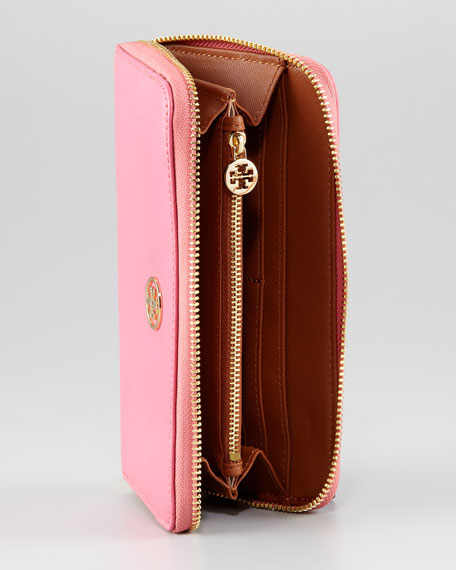 Robinson Continental Zip Wallet, French Rose/ Luggage