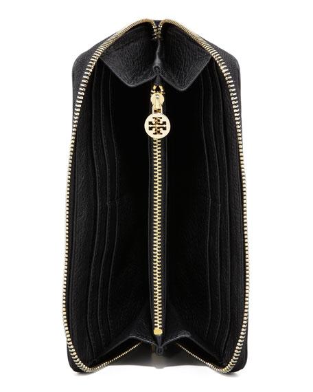 Amanda Continental Zip Wallet, Black