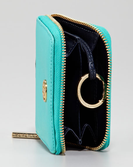 Robinson Zip Coin Case, Turquoise