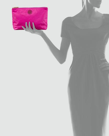 Large Nylon Cosmetic Case, Party Fuchsia