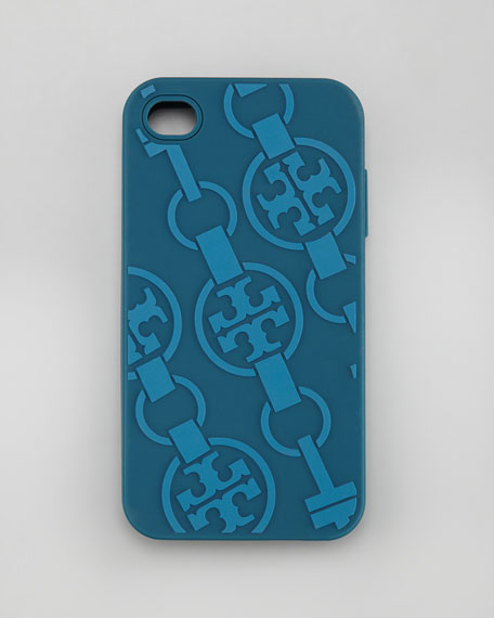 T-Belts Silicone iPhone 4 Case, Winter Teal