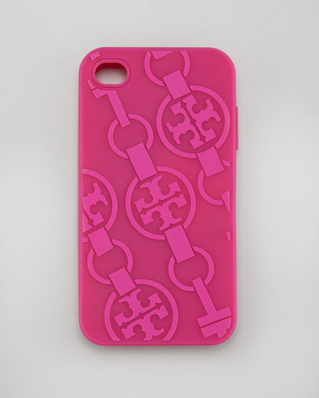 T-Belts Silicone iPhone 4 Case, Royal Fuchsia