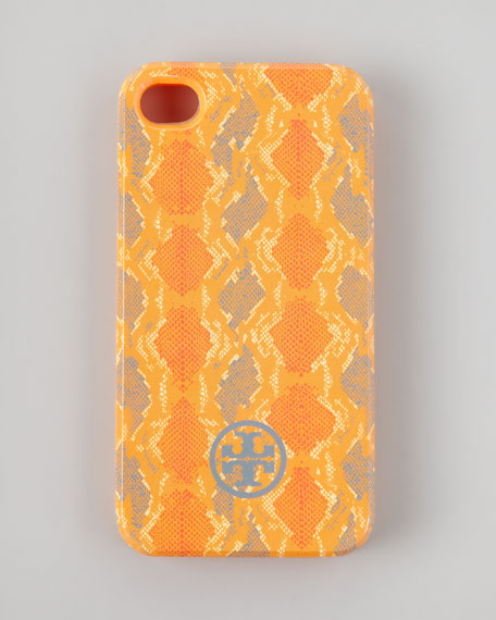 Pop Snake-Print Soft iPhone 4 Case, Orangina