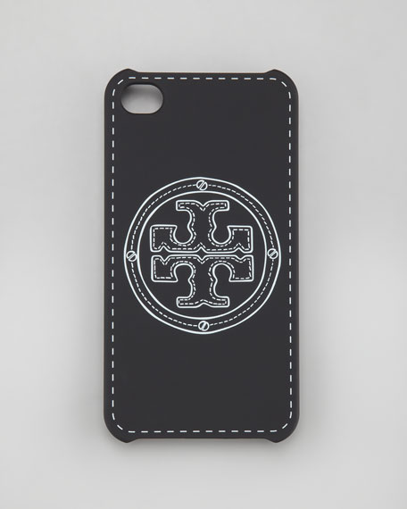 Stacked Logo iPhone 4 Case, Black