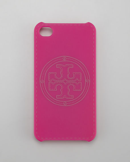 Stacked Logo iPhone 4 Case, Party Fuchsia