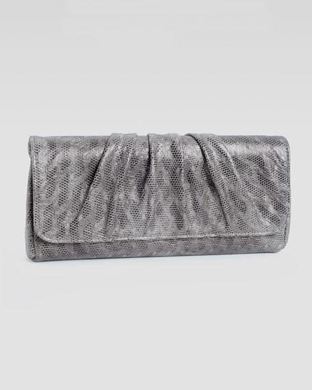 Caroline Etched-Metallic Clutch Bag