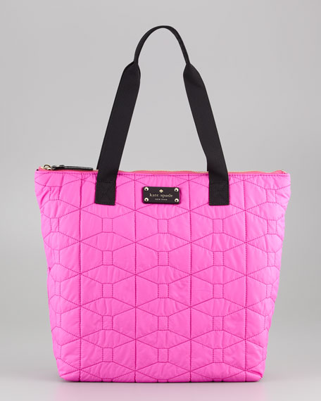 Signature Spade Quilted Bon Bag, Vivid Snapdragon