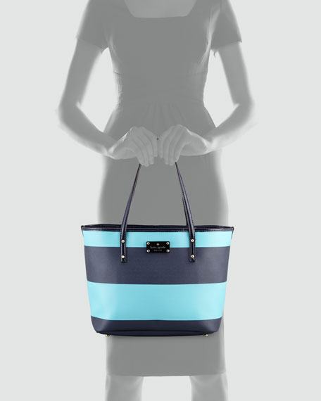 boutique striped small harmon bag, iceberg
