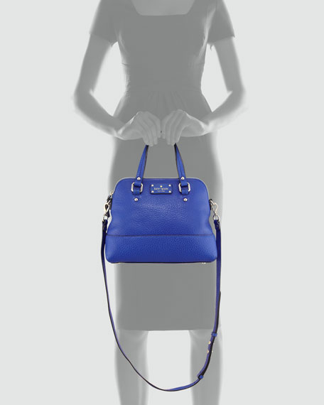 grove court small maise satchel bag, yves blue