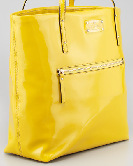 patent leather flicker bon shopper bag, firefly