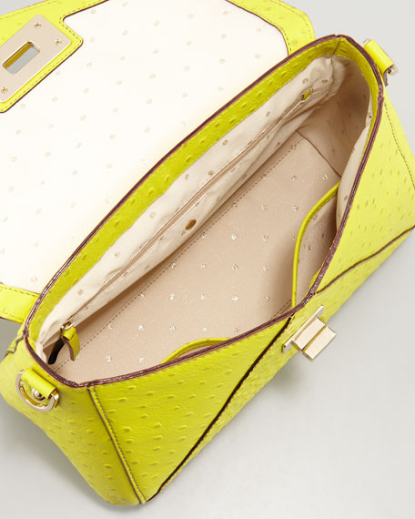 post street little nadine lady bag, electric lime