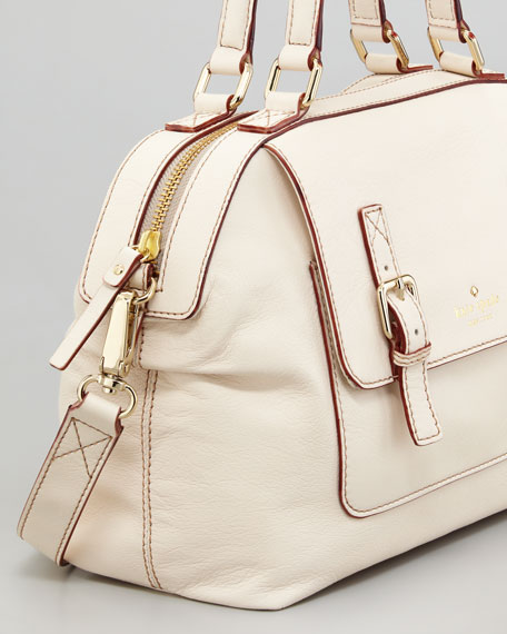 allen street raquelle satchel bag, cream