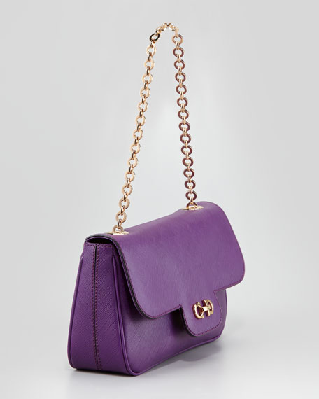 Luciana Shoulder Bag, Berry