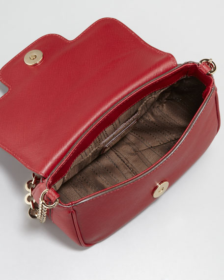 Fancy Leather Clutch Bag, Red