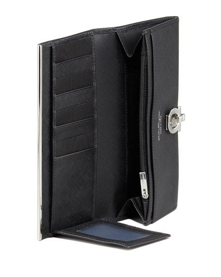 Gancini Icona Continental Wallet, Black