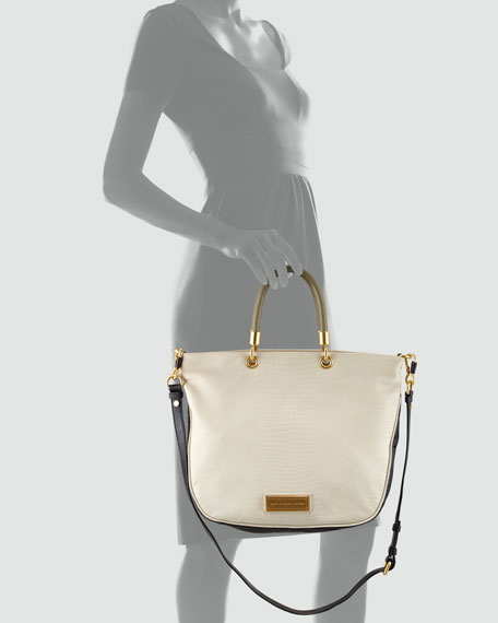 Too Hot To Handle Colorblock Zip Tote Bag