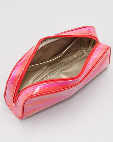 henrietta sweetshoppe striped cosmetic case