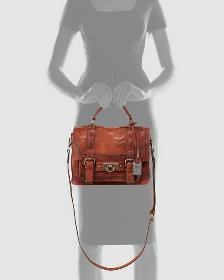 Cameron Small Satchel Bag, Cognac
