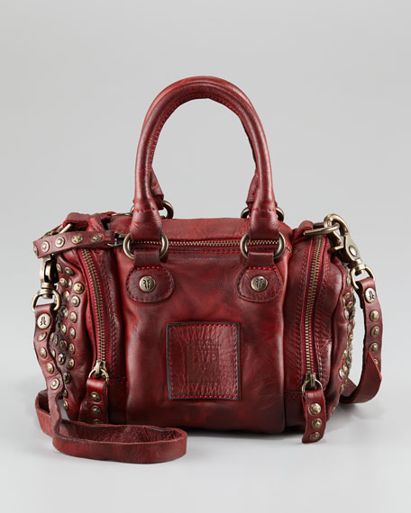 Brooke Crossbody Satchel Bag, Red
