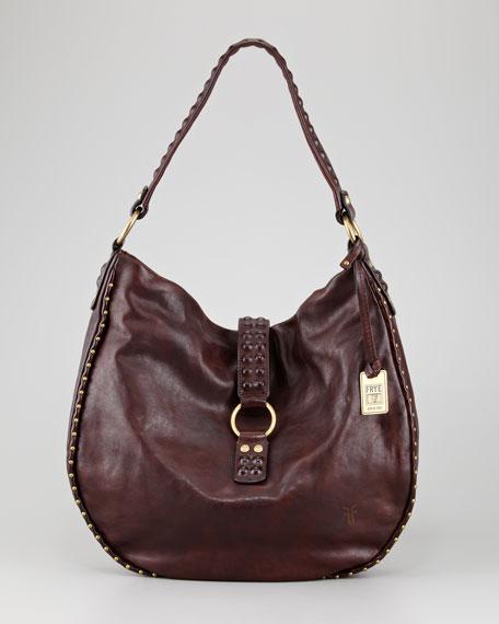 Roxanne Stud-Trim Hobo Bag, Brown
