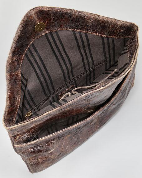 Brooke Stud Envelope Clutch Bag, Chocolate
