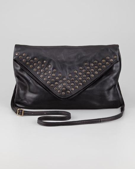 Brooke Stud Envelope Clutch Bag, Black