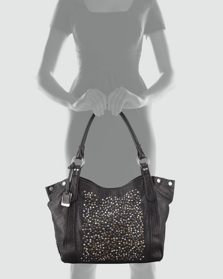 Deborah Studded Tote Bag