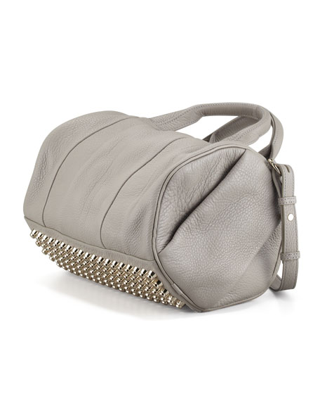 Rocco Stud-Bottom Duffel Bag, Oyster