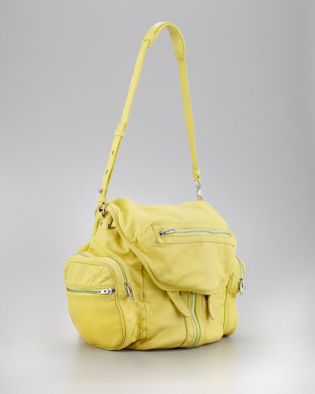 Marti Zippered Backpack, Citrus