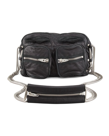 Brenda Chain Shoulder Bag, Black