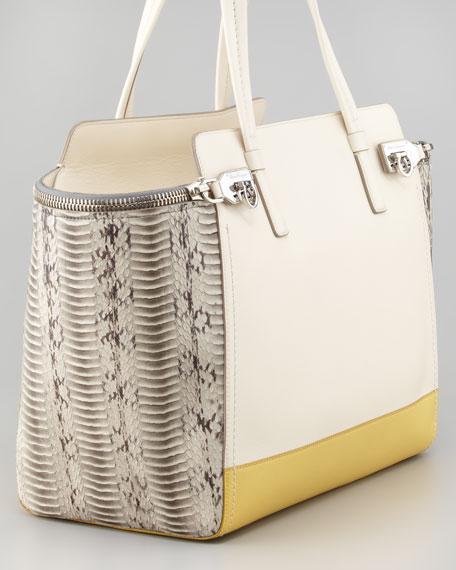 Verve Zip Tote Bag, Off White
