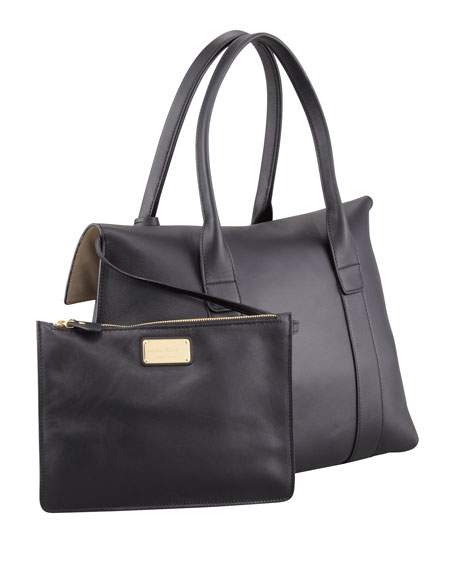 Sookie Flap-Front Satchel Bag, Black