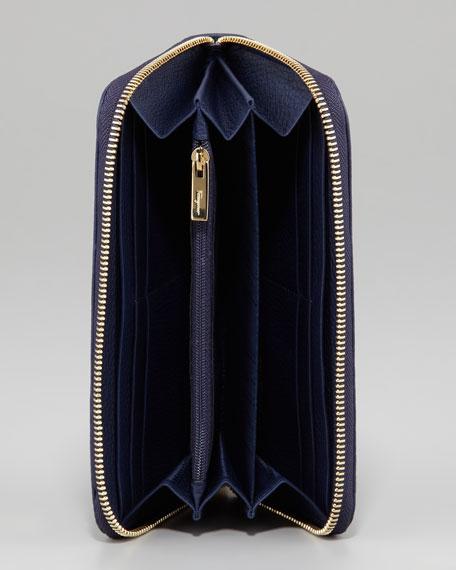 Gancio Continental Wallet, Blue