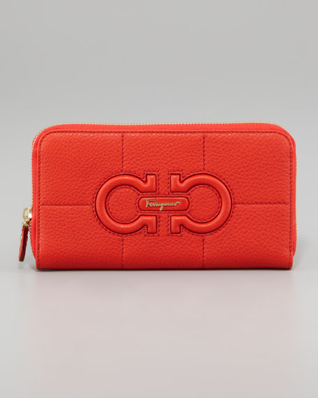 Gancio Continental Wallet, Red