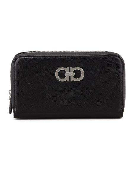 Icona Gancini Wallet, Black