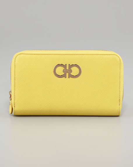 Icona Gancini Wallet, Yellow