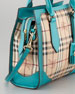 Small Haymarket Check Tote Bag, Kingfisher