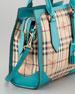 Small Haymarket Check Tote Bag, Kingfisher