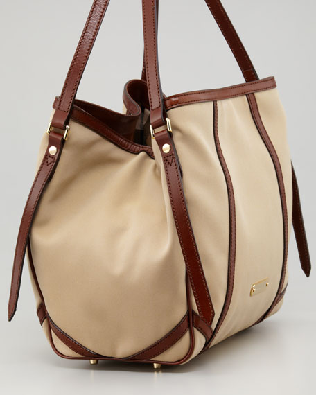 Small Trench Tote Bag, Honey