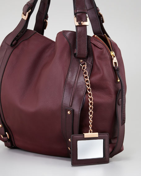 Kennedy Satchel Bag, Wildberry/Plum
