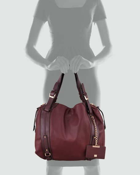 Kennedy Satchel Bag, Wildberry/Plum