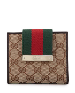 Gucci Web Medium Wallet, Cocoa