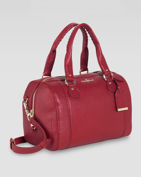 Linley Barrel Bag, Tango Red