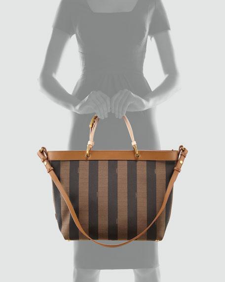 Pequin Shoulder Strap Tote Bag, Vachetta