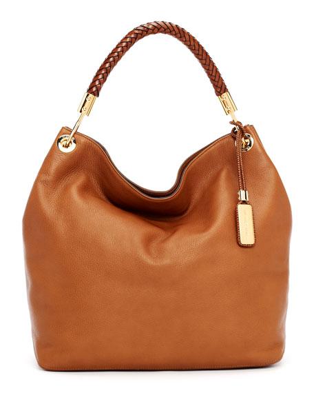 Large Skorpios Textured Leather Hobo Bag